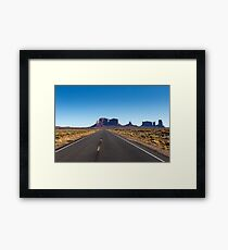 Monument Valley National Park in Arizona, USA Framed Print