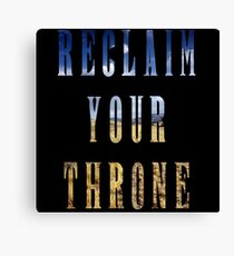 Reclaim Your Throne - Day/black Canvas Print