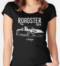 Roadster crew. MX5 Miata (NC) Women's Fitted Scoop T-Shirt