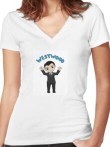 """Jim Moriarty """"Westwood"""" T-Shirt Women's Fitted V-Neck T-Shirt"""