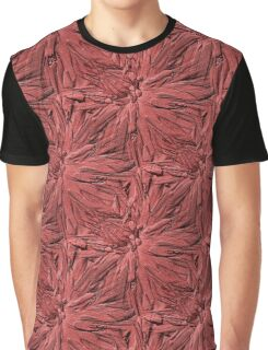 Dahlia Flower Petals Pattern In Dusty Rose Graphic T-Shirt