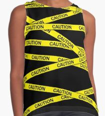 Caution Tape Contrast Tank