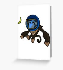 Monkey In Space Greeting Card
