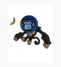 Monkey In Space Photographic Print