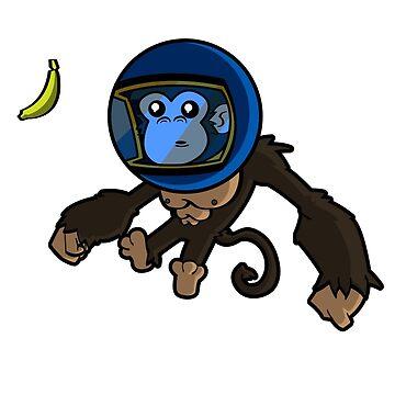 Monkey In Space by 256Adam