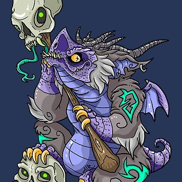 Purple Dragon Shaman by blackvultureink