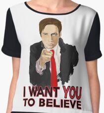 Mulder I Want To Believe Women's Chiffon Top