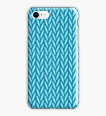 Knitted blue iPhone Case/Skin