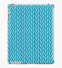 Knitted blue iPad Case/Skin