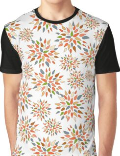 Abstract colorful flowers on white background. Graphic T-Shirt