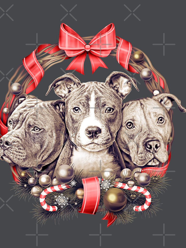 It's a Pit Bull Christmas by Beverlytazangel