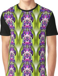Purple Berries Abstract Nature Art Graphic T-Shirt