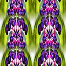 Purple Berries Abstract Nature Art by SmilinEyes
