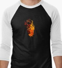 I Will Burn You - Text Edition Men's Baseball ¾ T-Shirt