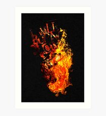 I Will Burn You - Text Edition Art Print