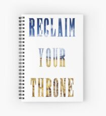 Reclaim Your Throne - Day/white Spiral Notebook