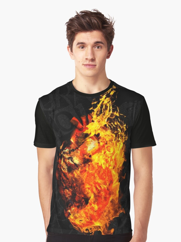 I Will Burn the HEART Out of You Graphic T-Shirt Front