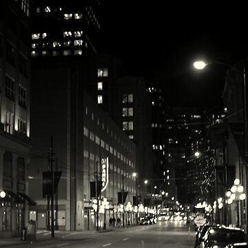 black and white cityscape by thetasigma0