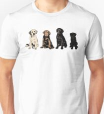 Rainbow of Puppy Love Slim Fit T-Shirt