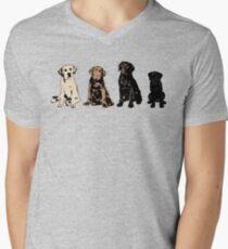 Rainbow of Puppy Love Mens V-Neck T-Shirt