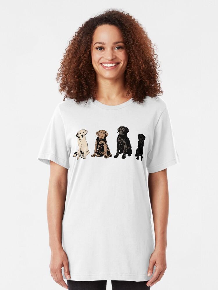 Alternate view of Rainbow of Puppy Love Slim Fit T-Shirt