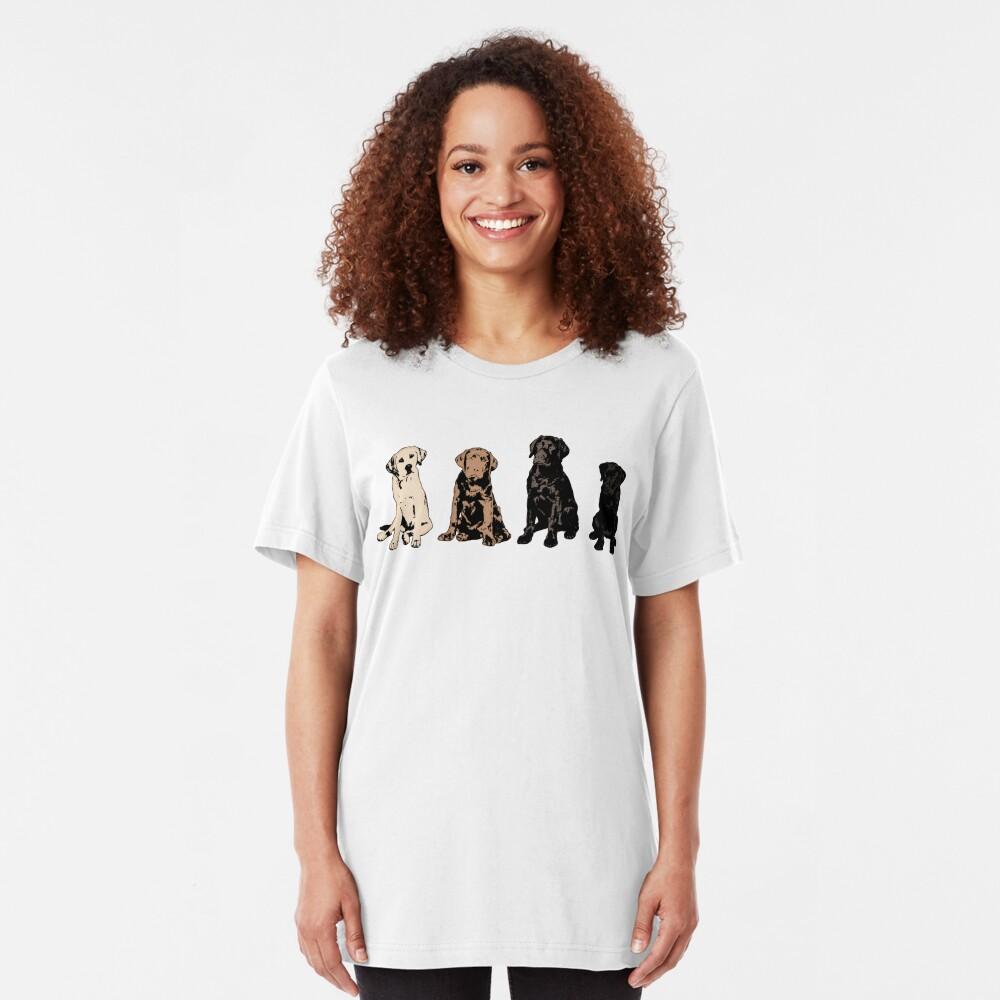 Rainbow of Puppy Love Slim Fit T-Shirt