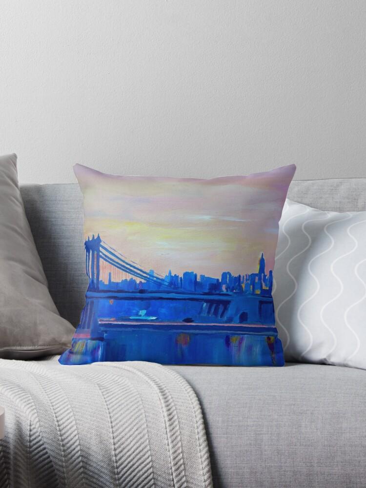 «Blue Manhattan Skyline con puente y Vanilla Sky-» de artshop77