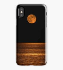 Harvest Moon Over Clear Lake iPhone Case