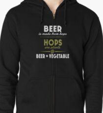 Beer = Vegetable Zipped Hoodie