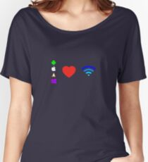OS love Wifi full color Women's Relaxed Fit T-Shirt