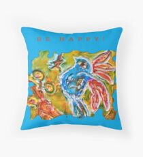 CUTE INSPIRATIONAL BLUE BIRD FUNNY QUOTE  Throw Pillow