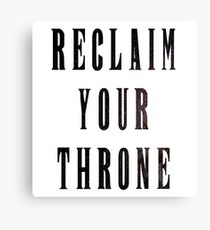 Reclaim Your Throne - Night Canvas Print