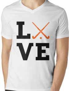I Love Field Hockey T-shirts Mens V-Neck T-Shirt