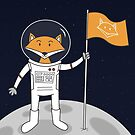 The Fox on the Moon by cartoonbeing