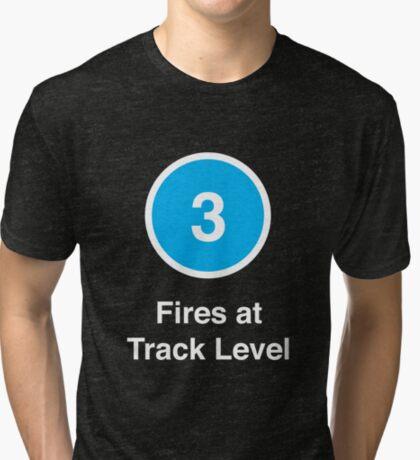 Fires at Track Level Tri-blend T-Shirt