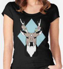 Hibiscus Deer Women's Fitted Scoop T-Shirt