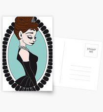 Audrey at Tiffany's Postkarten