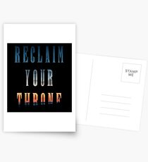 Reclaim Your Throne - Daybreak/black Postcards