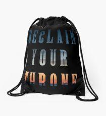 Reclaim Your Throne - Daybreak/black Drawstring Bag