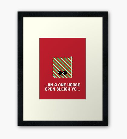 Christmas Character Building - Wrapping Paper Framed Print
