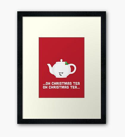 Christmas Character Building - Oh Christmas Tea Framed Print