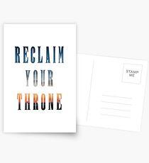 Reclaim Your Throne - Daybreak/white Postcards