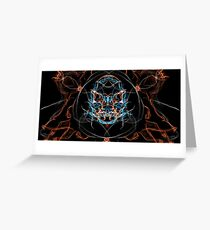 skull flames Greeting Card