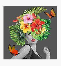 tropical woman  Photographic Print