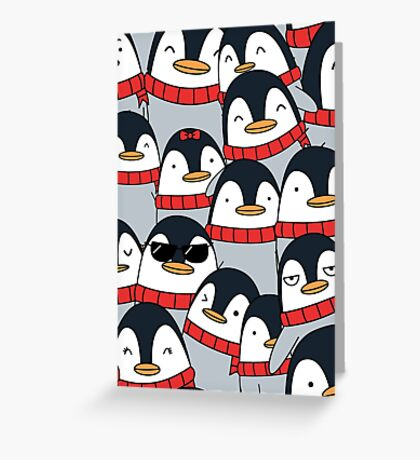 Merry Christmas Penguins! Greeting Card