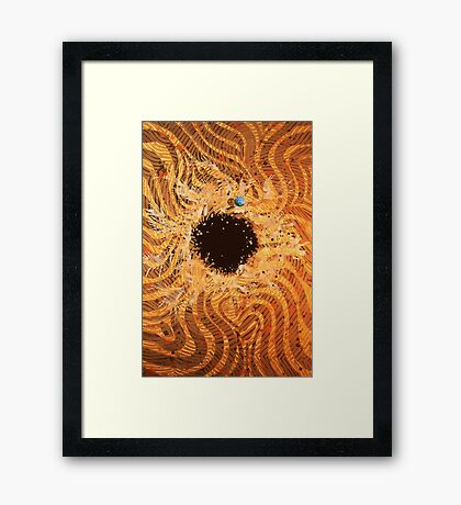 A Tear in the Fabric of TIME ~ View into Alter Universe Framed Print