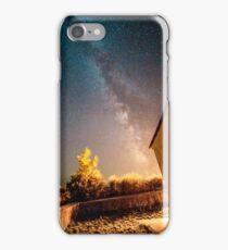 Milky way over a graveyard in Croatia iPhone Case/Skin