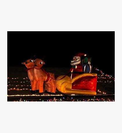 Up On The Rooftop, Santa Has Arrived! Photographic Print