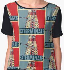 Exterminate Women's Chiffon Top