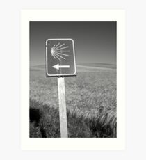 The familiar Camino marker Art Print